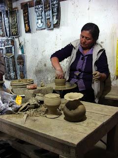 Woman Throwing a Pot (Caraz, Peru)