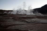 Sunrise at the Geysers (San Pedro de Atacama, Chile)