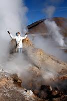 Vasilisa Saluting the Geyser Gods (San Pedro de Atacama, Chile)