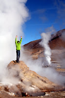 Joshua Victory-Pose Amidst The Geyers (San Pedro de Atacama, Chile)