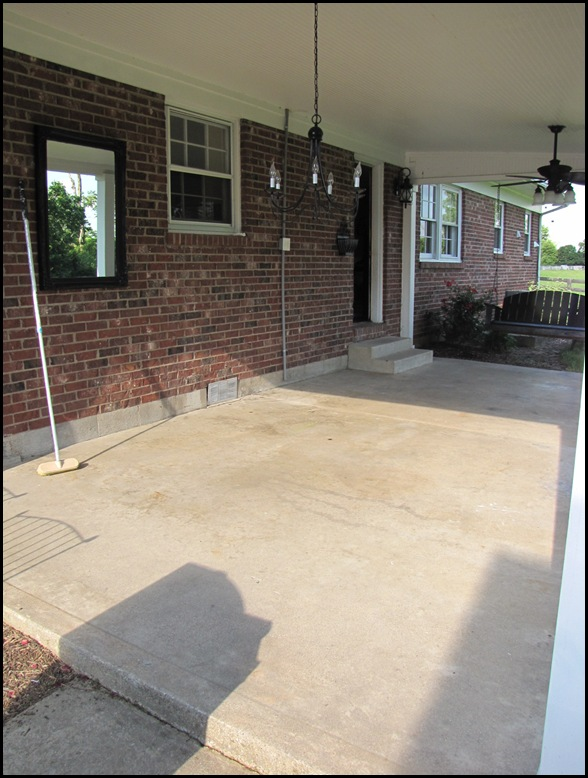 New tile patio floor reveal beneath my heart for Cleaning stained concrete patio