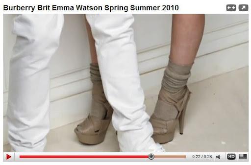emma watson burberry brother. Emma Watson#39;s leg was