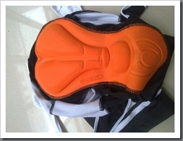 sitting pad for black bib short
