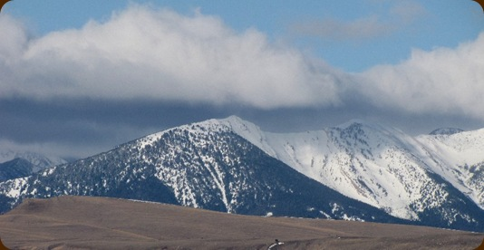 west boulder mountains in winter