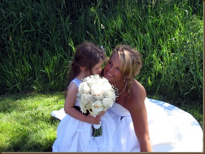 Katie and the flower girl