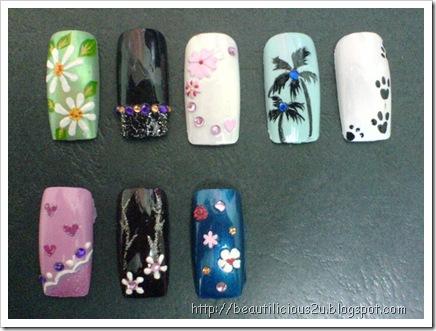 Nail Art, Free Hand Nail Art, 指甲彩绘