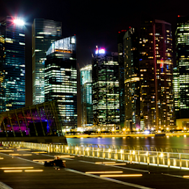 Marina Bay Singapore by Jayanta K Biswas - City,  Street & Park  Skylines (  )