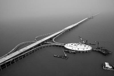 Jembatan terpanjang di dunia Hangzhou_bridge