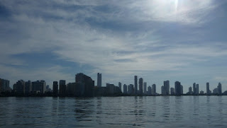 Skyline von Cartagena am Morgen.