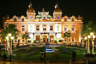 Architectural casino in Monte Carlo