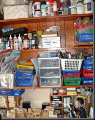 shelves over desk