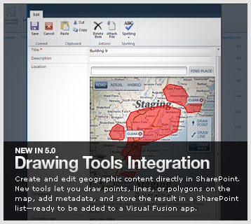 Visual Fusion Drawing Tools Integration - create and edit geographic content in SharePoint