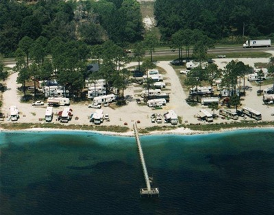 Aerial view of Ho Hum RV Park from their website.