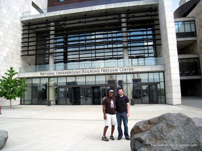 Odel and Greg at the Freedom Center