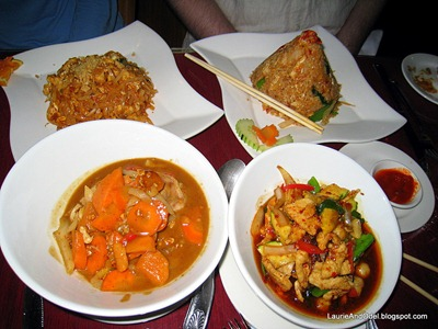 Entrees at Green Papaya