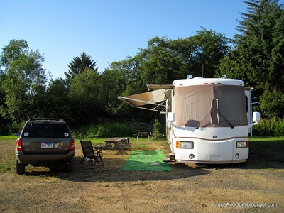 Site 26B at the Lincoln City Elks RV park