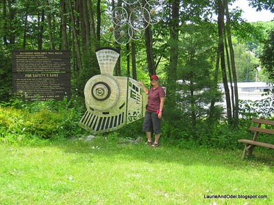 At the Rockwood trailhead of the Great Allegheny Passage, a former railroad route.