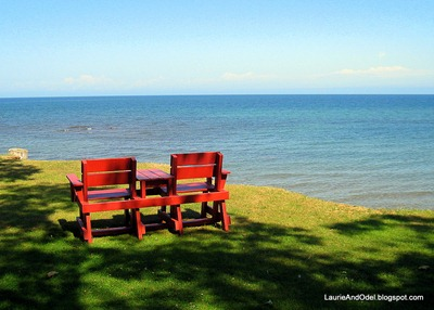 Apleasant place to sit on the bluff at McLain State Park, overlooking Lake Superior.