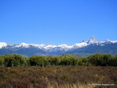 View of the Teton Range from near the RV Park