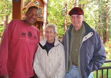 Odel, Bev (Mommy), Bill (Daddy) - three happy campers.