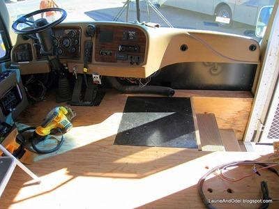 Dashboard torn apart