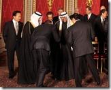 Obama bows