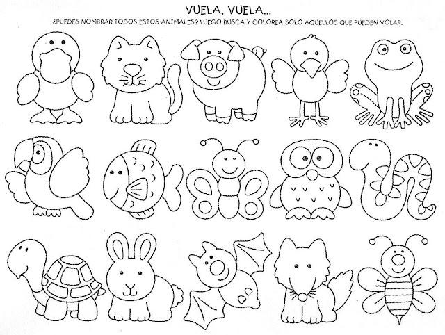 Animales para colorear para niños preescolar - Imagui