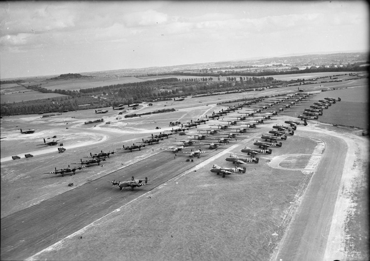 Aircraft reinforcements being prepared