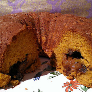 Pumpkin Bread Stuffed with Cookie Dough
