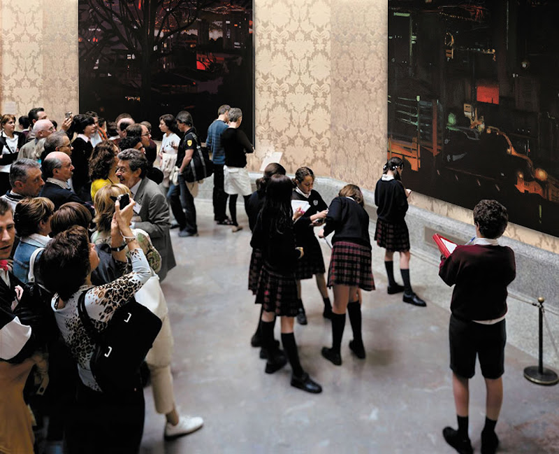 Reinterpretación de la imagen a partir de la obra de Thomas Struth, Museo del Prado 7, Madrid, 2005, © Thomas Struth.jpg 157,00 K. Montaje: Juan Pablo García.