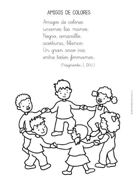 bibliotecadonalvaro: Poesías de la Paz para imprimir y colorear