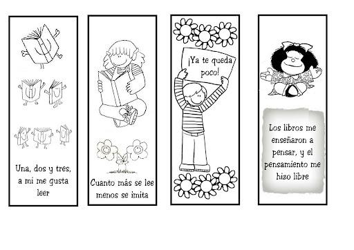 Un sueño literario: separadores de libros para imprimir