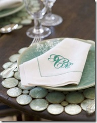 capiz place setting  pheobehoward