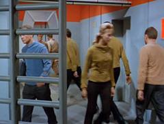 #11, Leslie, #7, Kirk, #8, Spock, #6