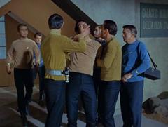 Kelso, Leslie, Spock, Mitchell, Dehner, Kirk, Piper