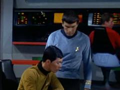 Sulu, Spock, Leslie