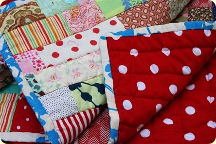 Polka Dot Stash Quilt