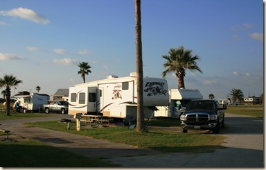 Quintana Park Campground - Our Site