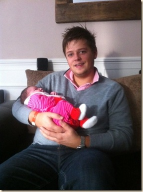 Rob Couch and baby