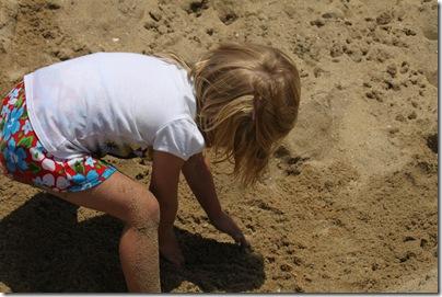 Abigail digging