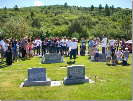Family at cemetarty