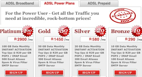 Afrihost's R29/Gb offer