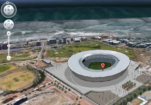 Cape Town Stadium - click to see aerial photo