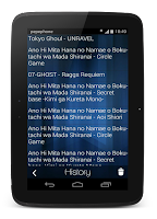 Screenshot of Anime Lyrics