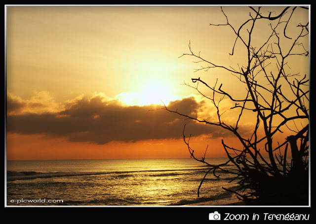 sunrise at lembah bidong beach