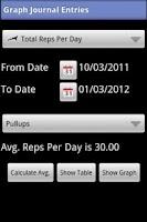 Screenshot of My Workout Journal