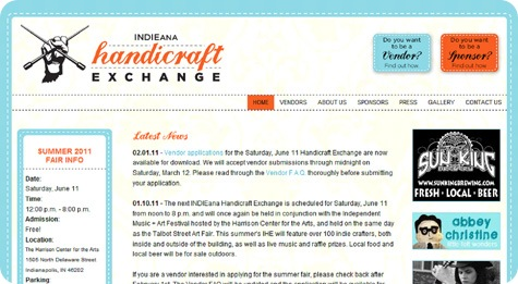 indieana handicraft exchange screenshot