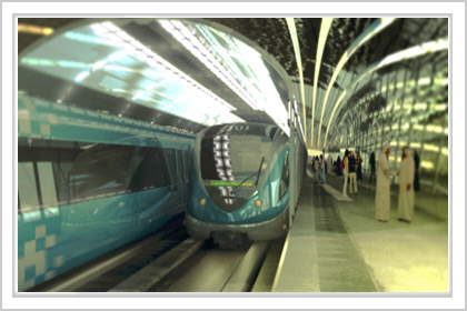 IMG : Dubai Metro : One of the most advanced urban rail Systems