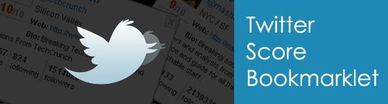 Twitter Score Bookmarklet