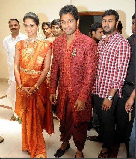 Allu Arjun Sneha Reddy wedding reception pictures-15